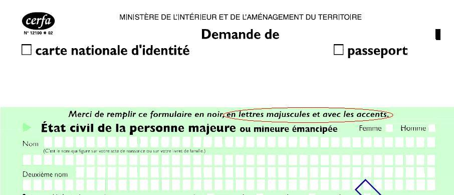 ... de l'Intérieur : Carte nationale d'identité et autorisation de